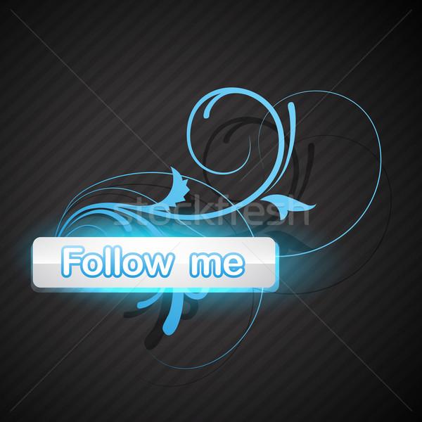 follow me button Stock photo © Pinnacleanimates