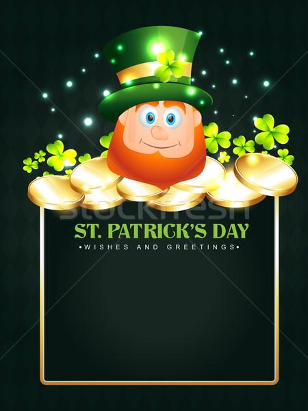 happy leprechaun Stock photo © Pinnacleanimates