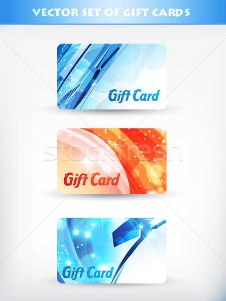 Regalo carte vettore set carta regalo compleanno Foto d'archivio © Pinnacleanimates
