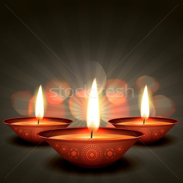 shiny diwali background Stock photo © Pinnacleanimates