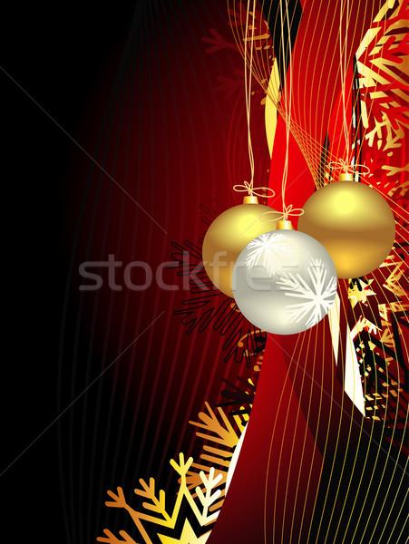 Navidad hermosa artístico vector nieve marco Foto stock © Pinnacleanimates