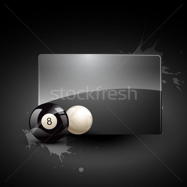 Snooker golyók vektor medence absztrakt művészet Stock fotó © Pinnacleanimates