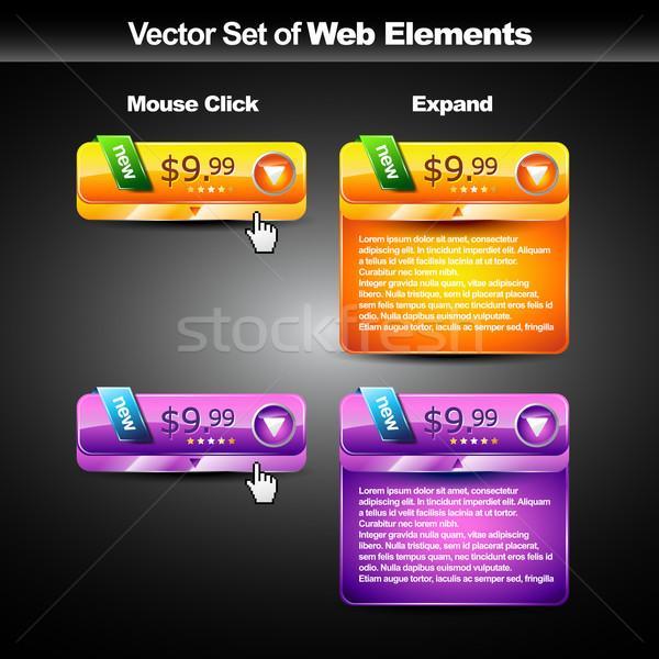 Webボタン ベクトル ドロップ ダウン スタイル ストックフォト © Pinnacleanimates