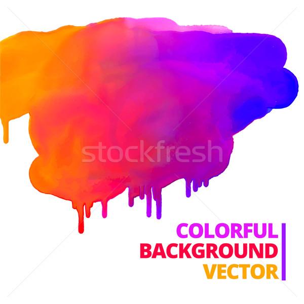 flow of paint colors ink splash vector design Stock photo © Pinnacleanimates