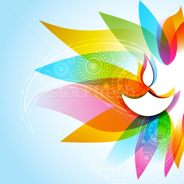Elegante diwali feliz fondo lámpara color Foto stock © Pinnacleanimates