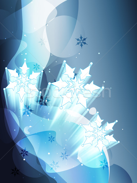 снежинка вектора искусства аннотация снега льда Сток-фото © Pinnacleanimates