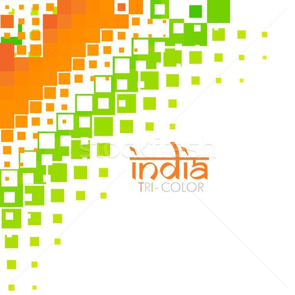stylish indian flag design Stock photo © Pinnacleanimates