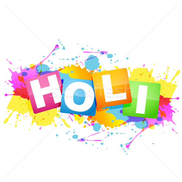 Stock photo: holi festival design