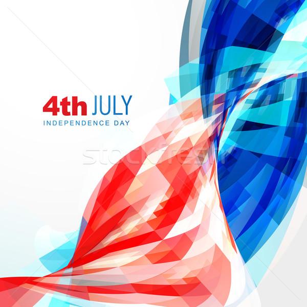 Dag amerika vector partij Blauw vlag Stockfoto © Pinnacleanimates