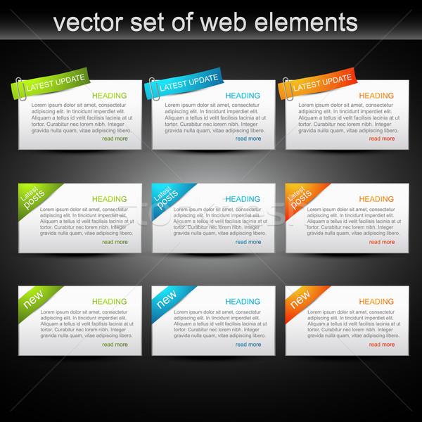 vector set of web elements Stock photo © Pinnacleanimates