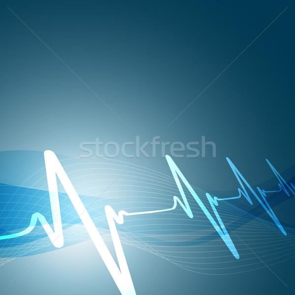 Batimento cardíaco coração hospital medicina gráfico exibir Foto stock © Pinnacleanimates