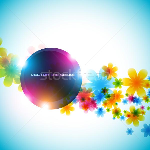 Virág vektor vektor gyönyörű virág művészet tavasz Stock fotó © Pinnacleanimates