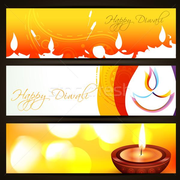 colorful diwali headers Stock photo © Pinnacleanimates