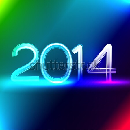 blue color happy new year Stock photo © Pinnacleanimates
