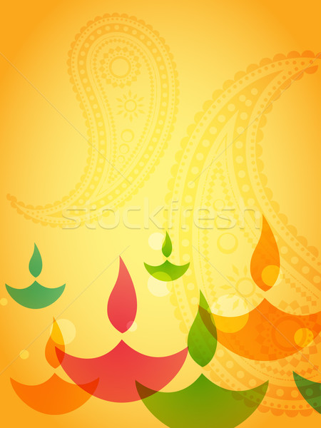 Diwali design belle coloré heureux lumière Photo stock © Pinnacleanimates