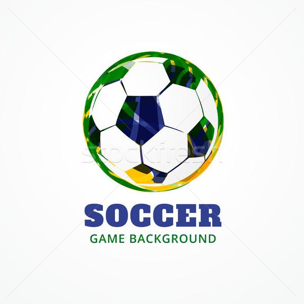 Fútbol vector juego partido de fútbol diseno arte Foto stock © Pinnacleanimates
