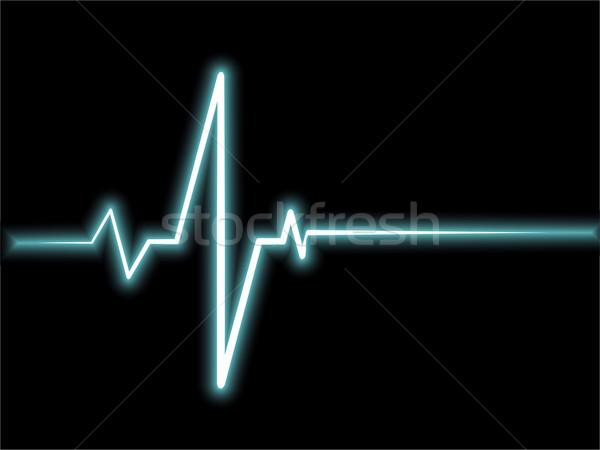 Vektör hayat çizgisi sanat soyut tıbbi izlemek Stok fotoğraf © Pinnacleanimates