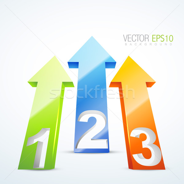 illustration of 3d numbered arrows  Stock photo © Pinnacleanimates