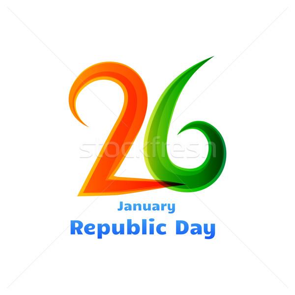 26th republic day celebration design Stock photo © Pinnacleanimates