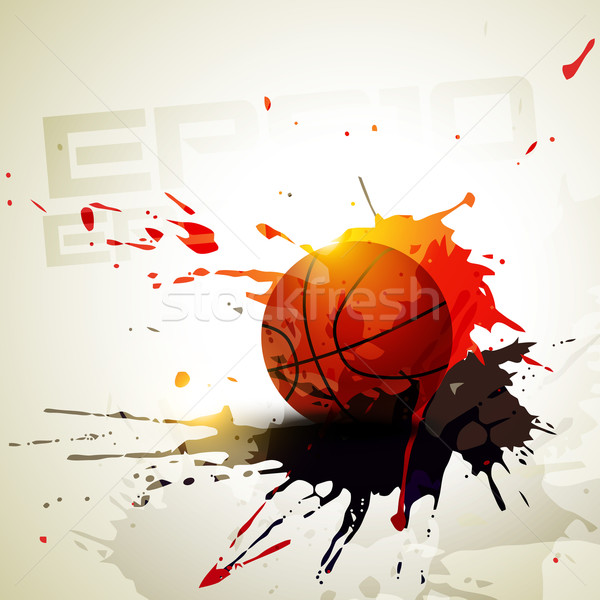 vector basketball Stock photo © Pinnacleanimates