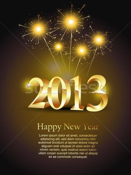 shiny new year design Stock photo © Pinnacleanimates