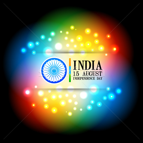 colorful indian flag design Stock photo © Pinnacleanimates