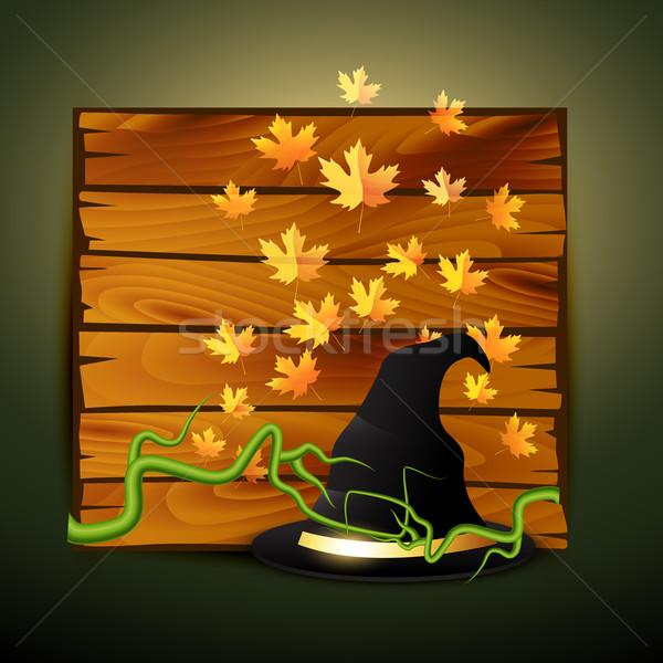 Arrepiante halloween projeto vetor ilustração árvore Foto stock © Pinnacleanimates