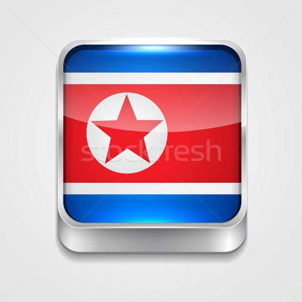 flag of north korea Stock photo © Pinnacleanimates