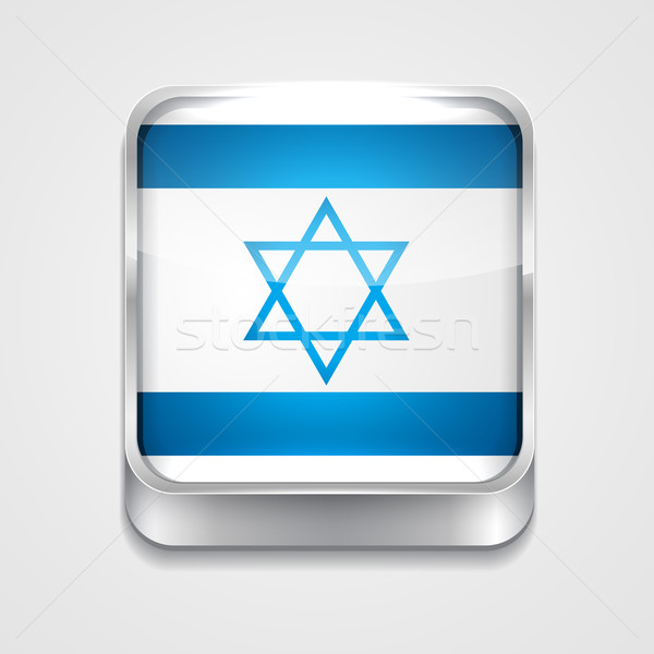 Vlag Israël vector 3D stijl icon Stockfoto © Pinnacleanimates