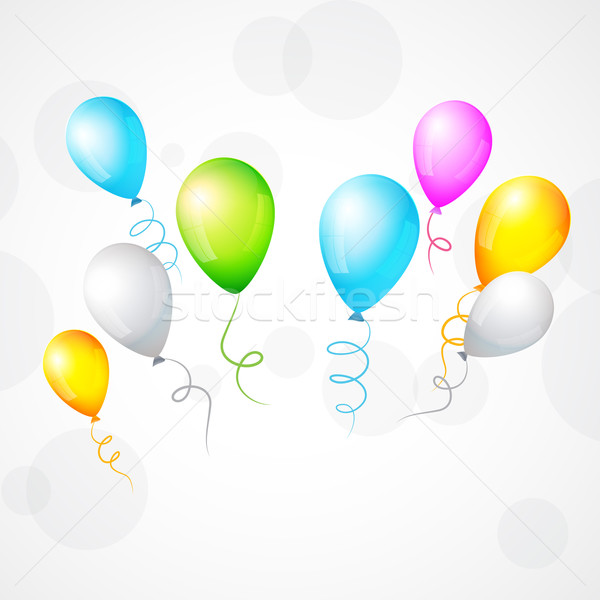 colorful isolated balloon illustration Stock photo © Pinnacleanimates
