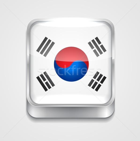 flag of south korea Stock photo © Pinnacleanimates