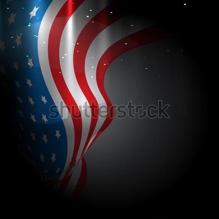 Stockfoto: Amerikaanse · vlag · ontwerp · vector · illustratie · abstract · Rood