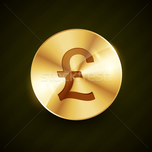 Goud pond geld symbool munt vector Stockfoto © Pinnacleanimates