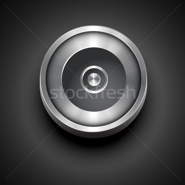 Płyta cd metaliczny ikona wektora projektu komputera Zdjęcia stock © Pinnacleanimates