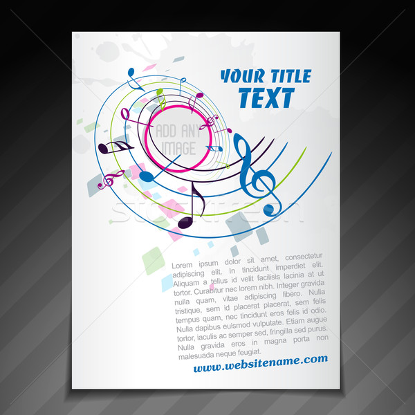 Music Brochure Design Vector Illustration  Pinnacle Animates