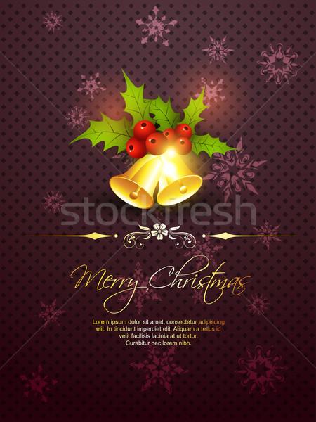 Neşeli Noel çan güzel mor arka plan Stok fotoğraf © Pinnacleanimates