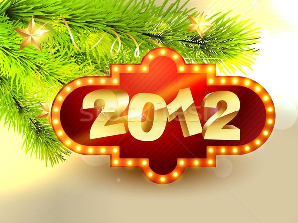 2012 vetor ano novo projeto belo feliz ano novo Foto stock © Pinnacleanimates