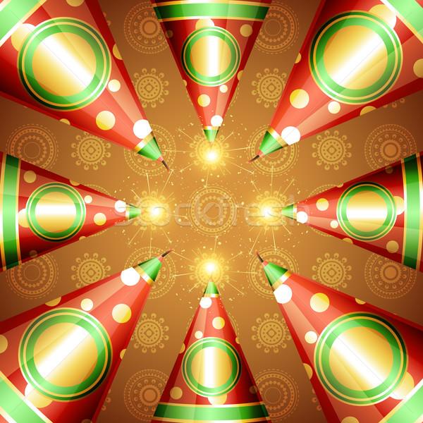 diwali crackers background Stock photo © Pinnacleanimates