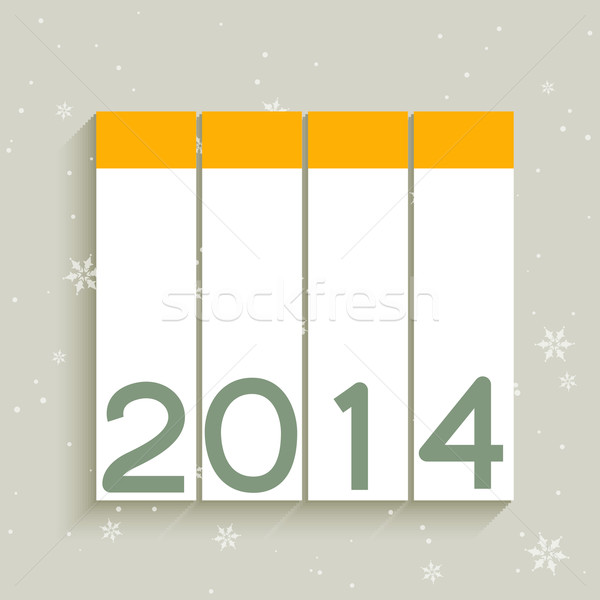 2014 happy new year vecteur design heureux résumé Photo stock © Pinnacleanimates