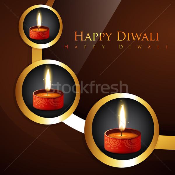 stylish hindu festival diwali background Stock photo © Pinnacleanimates