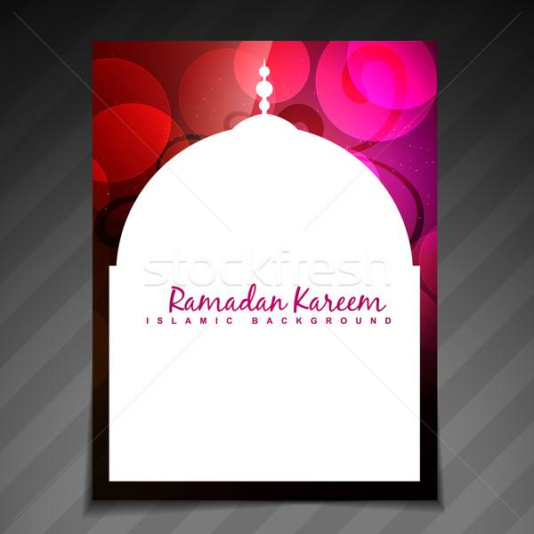 Elegáns ramadán fesztivál gyönyörű sablon terv Stock fotó © Pinnacleanimates