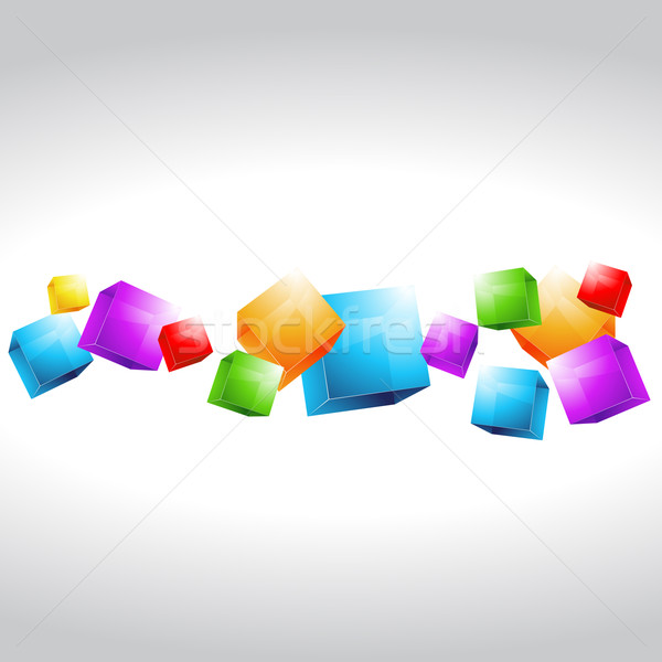 mutli color cubes shapes Stock photo © Pinnacleanimates