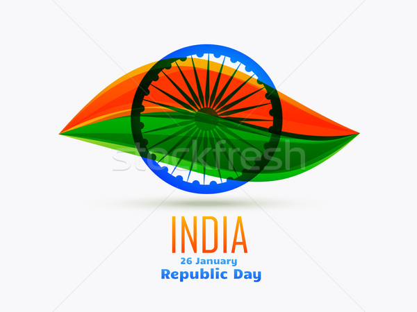 Indian republiek dag ontwerp 26 blad Stockfoto © Pinnacleanimates