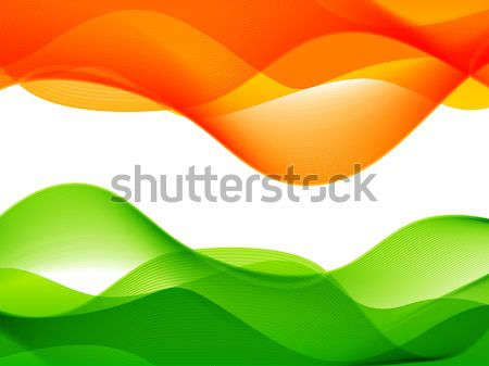 wave style indian flag design Stock photo © Pinnacleanimates