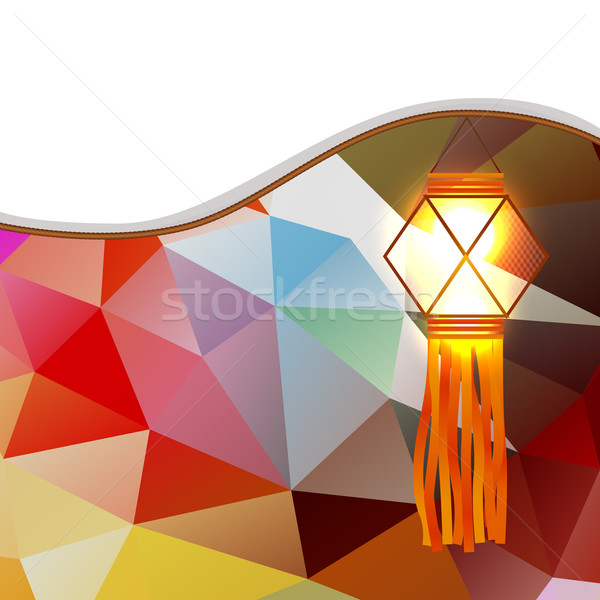 abstract diwali lamp Stock photo © Pinnacleanimates