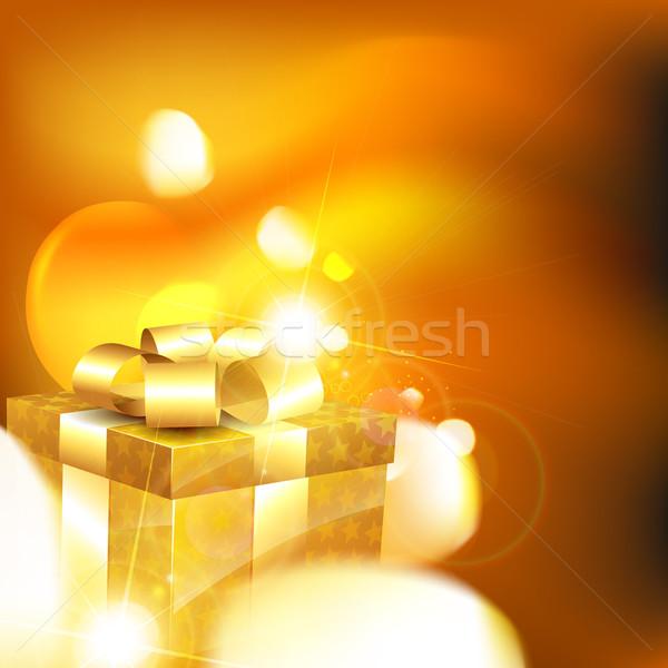 Lucido scatola regalo Natale compleanno Foto d'archivio © Pinnacleanimates