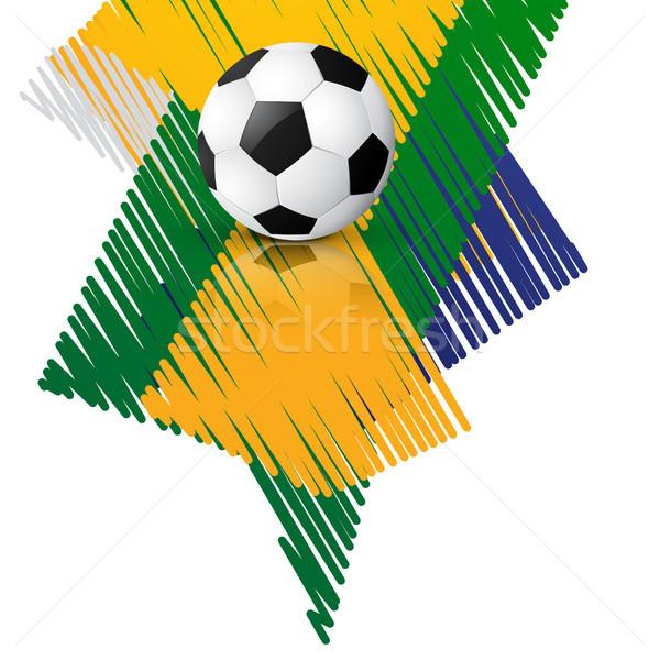 Vetor jogo de futebol elegante projeto arte futebol Foto stock © Pinnacleanimates