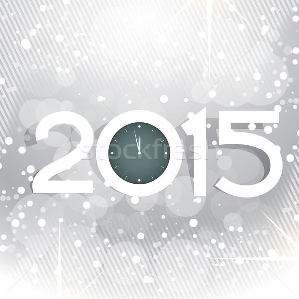 creative new year design with shiny circles and clock Stock photo © Pinnacleanimates