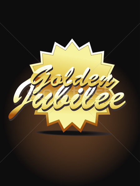 Gold jubilee vector art Stock photo © Pinnacleanimates