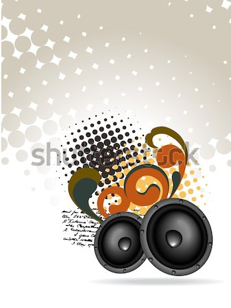 vector artistic mic background Stock photo © Pinnacleanimates
